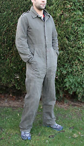 Military Dutch Army Mechanic Overall Boiler Suit Used D.I.Y Coverall Green