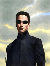 Keanu Reeves The Matrix Original Painting