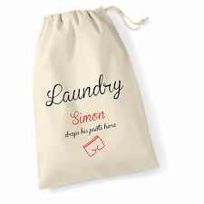 XL Personalised Funny Vintage Style Men's Cotton Laundry Sack  75 X 50 CM