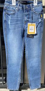 Bettina Liano Crop 'May' Denim Distressed Jeans
