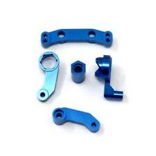 STRC STC9659B Aluminum Steering Bellcrank Set Associated SC10 T4 B4 (Blue)