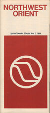 Northwest Orient Airlines system timetable 6/7/84 [308NW] Buy 4+ save 25%