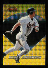 1996 BOWMAN'S BEST ATOMIC REFRACTOR GOLD BRADY ANDERSON BALTIMORE ORIOLES #25
