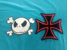 "Iron Cross Patch 7""x7"" Maltese Red & Black & Nightmare BF Christmas Sew on 1-1-F"
