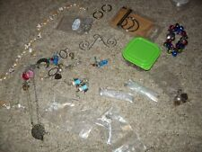 Huge Lot Of Mixed Jewelry Making Supplies Crafts odds ends beads jingle bells