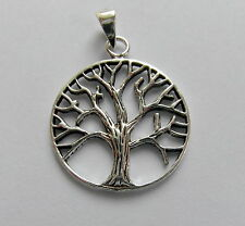 Sterling  Silver  (925)  Tree  Of  Life  ( 18 mm ) Pendant   !!     Brand New !!
