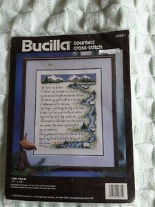 "Bucilla counted cross stitch kit 23rd psalm prayer  BNIP 11x 14 """