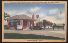 Postcard Chambersburg Pa Letter Kenny Ordnance Depot Entrance Gate 1930'S