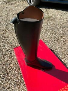 Sergio Grasso Long Leather Riding Boots sz 4/37 8/41