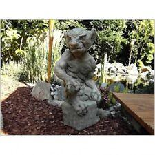 Gollum Statua in ghisa TROLL SCULTURA per giardino resistente al gelo NUOVO