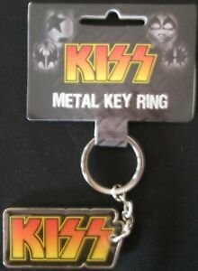 Official Kiss Keyring Metal Key Ring 50mm Rock Band Gift Merchandise Music NEW