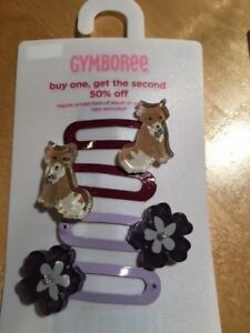 Gymboree hair snap clips barrettes Harvest Leaves Lady Daisy Spring Showers NWT