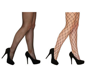 New Women's Tights Fishnet Ladies Tights Black Net Dance Sexy Halloween One Size