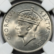 1950 KING GEORGE VI BRITISH EAST AFRICA 1S ONE SHILLING COIN NGC MS64