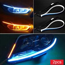 2pcs Ultra Thin Car Soft Tube LED Strip Daytime Running Light Turn Signal Lamp
