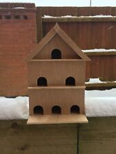 Handmade, Three Storey Bird House/Nesting Box, made from recycled Wood