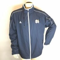 Notre Dame Issued Blue Windbreaker Jacket-Ernest Jones 2XL Full Zip Coach Worn