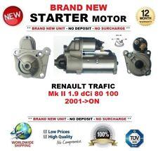 FOR RENAULT TRAFIC II 1.9 dCi 80 100 2001-ON NEW STARTER MOTOR 1.9kW 11Teeth