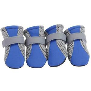 4PCS Pet Small Dog Non-Slip Breathable Shoes Puppy Boots Protection Paw Booties