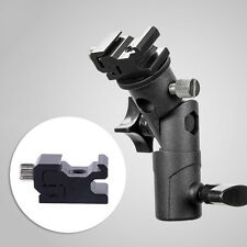 Flash Hot Shoe Umbrella Holder Swivel Bracket Mount Light Stand Type E for DSLR