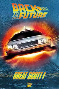 """Back To The Future - Movie Poster (Great Scott! - Delorean) (Size: 24"""" X 36"""")"""