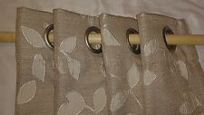 "Beige Quin Leaf Grommet, by J. C. Penny Home, 50"" W x 118"" L Per Panel, One Pair"
