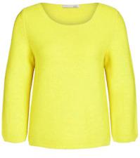Oui Celandine Knit Yellow Jumper Womens Size 8 *REF98*