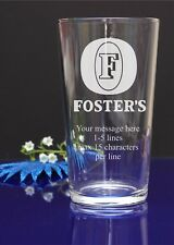 Personalised Fosters lager engraved pint glass BIRTHDAY/CHRISTMAS gift 48