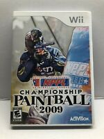 NPPL Championship Paintball 2009 - Wii Game Complete w/ Manual - Tested Working