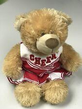 Build A Bear Cheerleader Red White Uniform Bear Euc