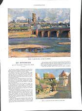 En Nivernais Cathédrale de Nevers pont de Lovre porte du Croux ILLUSTRATION 1932