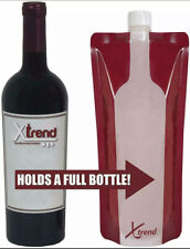 5 Pack - Foldable Reusable Portable Wine Bottle bag 750 ml