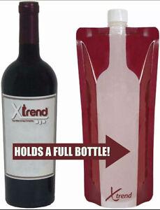 5 Pack - Foldable Reusable Portable Wine Bottle bag 750 ml
