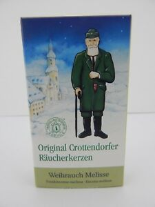German Crottendorfer Melisse Frankincense - Lemon Scent Incense Cones Smokers