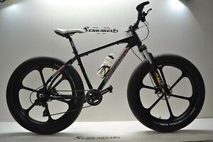 Montain Vélo FAT BIKE 26 x4.5 Slick Aluminium 9v Shimano Avant Disques Hydraulic