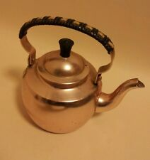 Vintage scandinavian pink anodised aluminium teapot Kettle 1/2 pint Norway