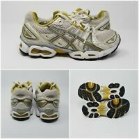 Asics Gel Nimbus 9 Fluid Gold Athletic Running Sneakers Shoes Womens Size 7.5