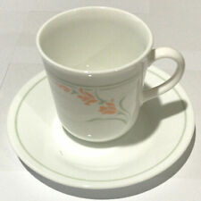 Vintage Corelle Peach Garland Cup and Saucer Set