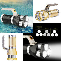 Rechargeable LED Searchlight Tactical Flashlight Spotlight 9000 Lumen Torch Ligh