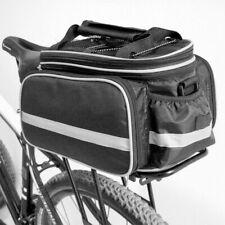Bike Bicycle Expanding Back Seat Bag Waterproof Pannier Rack Pack Cycling Pouch