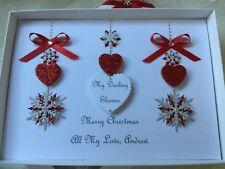 Christmas Card Handmade Personalised Husband Wife Boyfriend Girlfriend Mum Dad