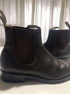 Baxter Boots Mens 42 Eu Dress Boot Dark Brown Leather