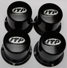 Itp Steel Center Cap - 4/110 Bolt Pattern Black Sm130Bbx Stl (4) Blk 370720
