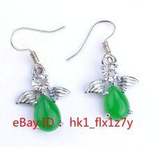 Green Jade Jade Jade Pendant Earrings Malay Chrysoprase Earrings