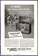 1947 ZENITH TRANS-OCEANIC Radio advertisement, Trans-Oceanic 8G005Y