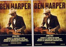 2 X BEN HARPER 2014 TOUR FLYERS