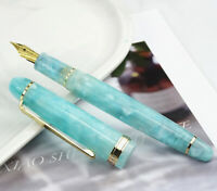 Light Green Moonman S3 Acrylic Fountain Pen Gift Pen, Beautiful Barrel EF/F Nib