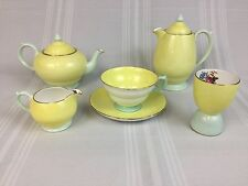 Copelands Grosvenor Partial Breakfast Set Teapot Coffee Pot Cup Egg Cup Creamer