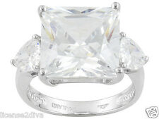 STERLING SILVER & DIAMOND SIMULANT ENGAGEMENT RING! SIZE 6! NEW! FREE SHIP! NEW!