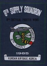 ☆ 8TH SUPPLY AIR FORCE KOREA KUNSAN BASE YEAR BOOK LOG 1985 ☆